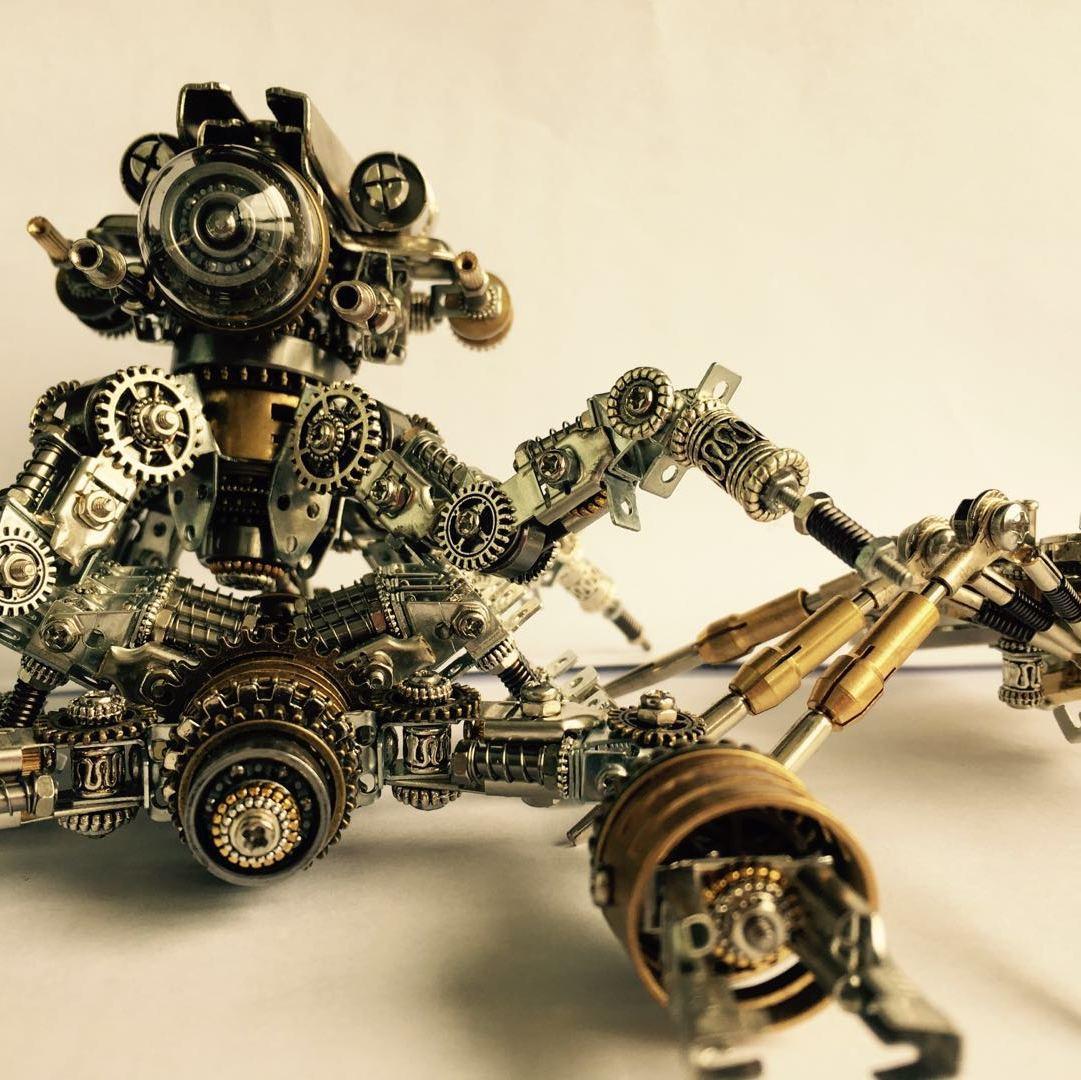 蒸汽朋克风机械模型:邀你进入我的机械美学世界图片