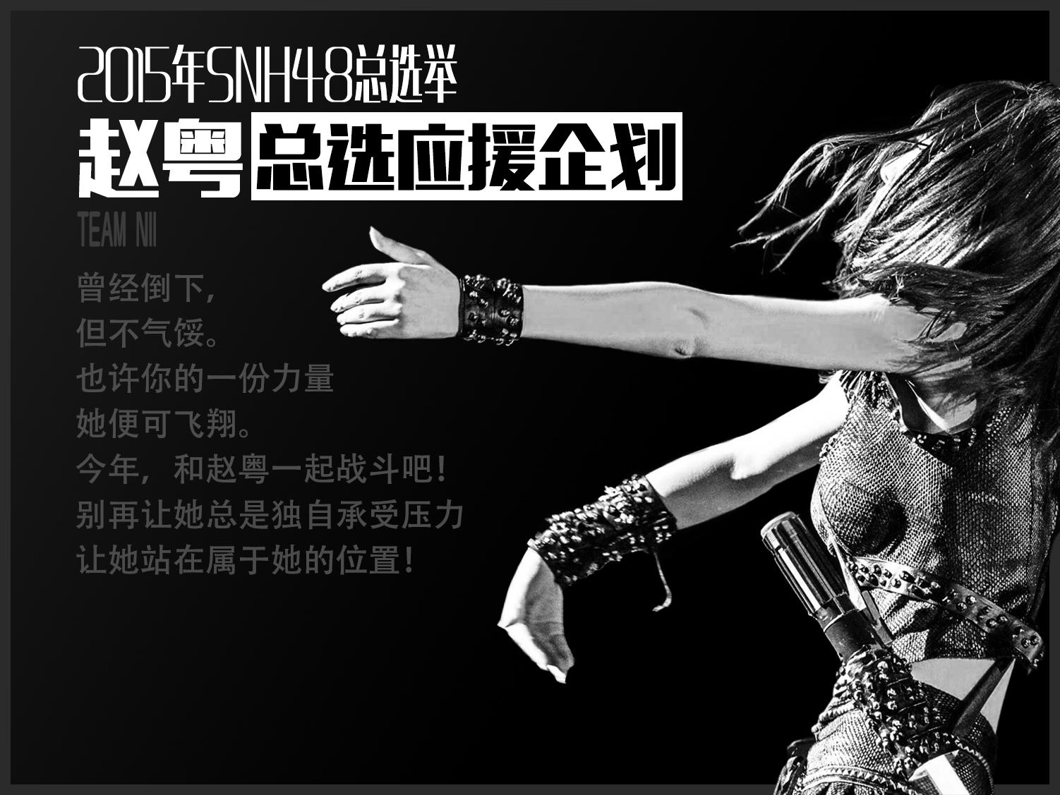 2015年SNH48第二届总选举—赵粤总选粉丝应援计划